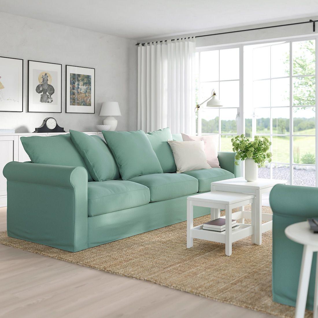 GrÖnlid 3er Sofa Ljungen Hellgrün Ikea Deutschland Grüne Wohnzimmer 3er Sofa Sofa Green
