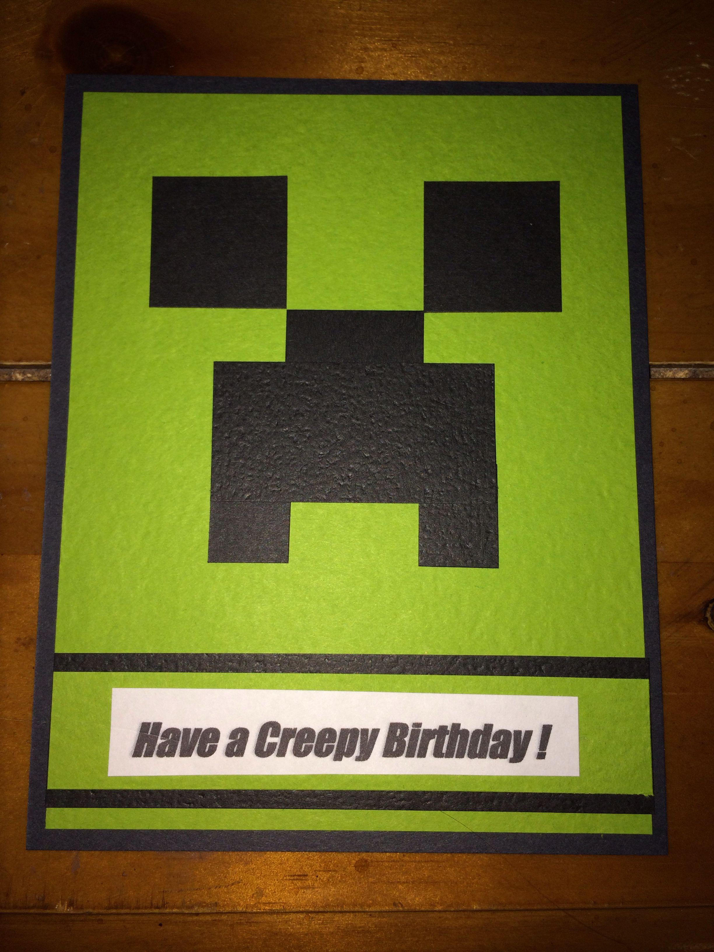 Minecraft Card Imagine That By Lori Minecraft Birthday