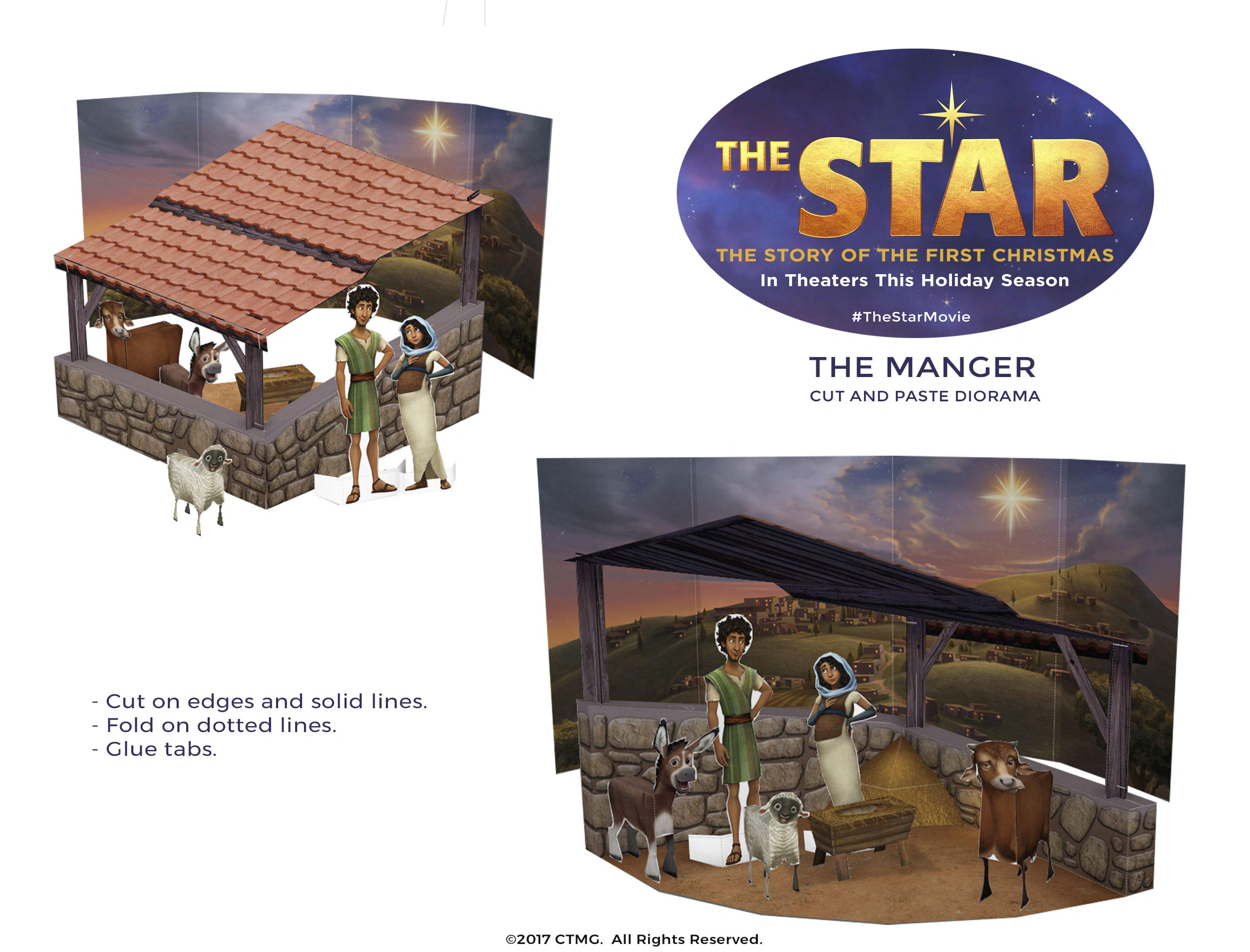 image relating to Printable Diorama titled This cost-free printable diorama of the nativity scene in opposition to
