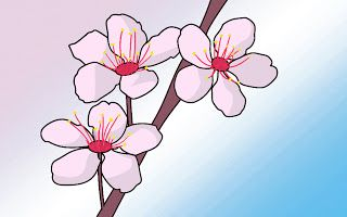 How To Draw Cherry Blossoms Draw Central Cherry Blossom Drawing Cherry Blossom Painting Cherry Blossom Art