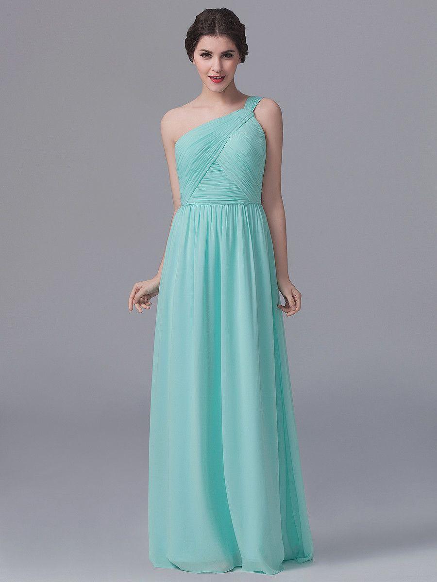 One shoulder pleated dress bridesmaids pinterest