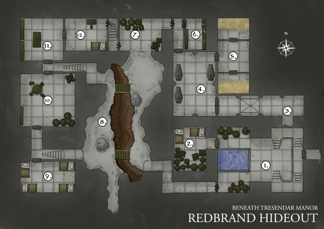 photograph regarding Redbrand Hideout Map Printable named Redbrand Hideout Dungeon Map through upon