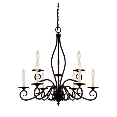 Savoy House Bryce 9 Light Candle-Style Chandelier Finish: English Bronze