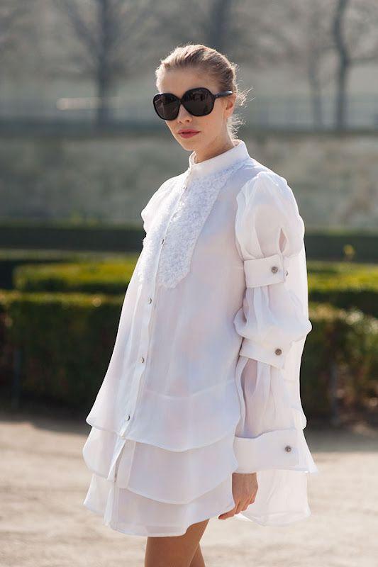 Elena Perminova, Paris Fashion Week March 2011.