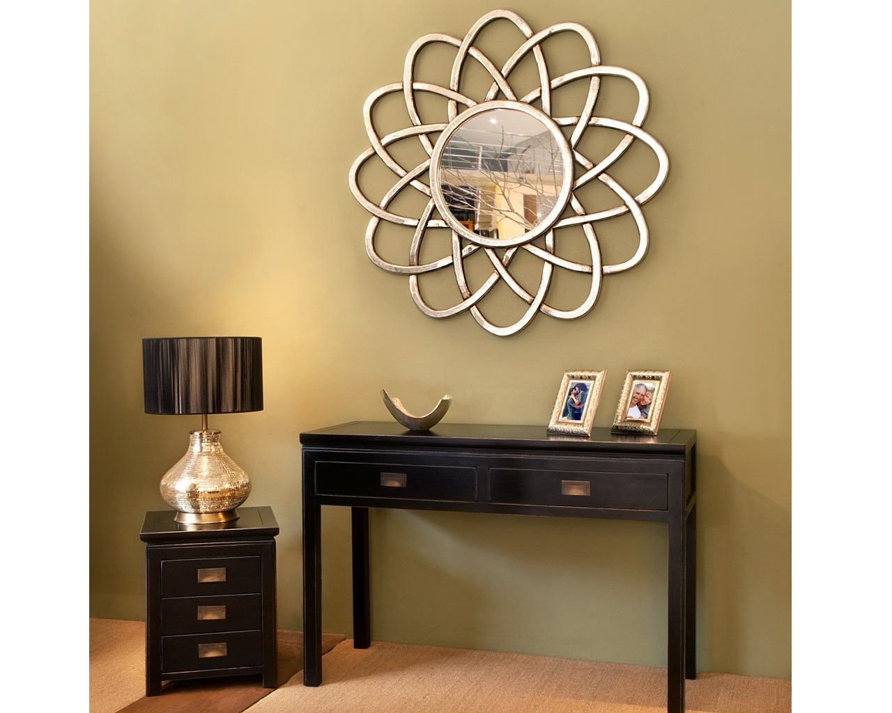 Scroll Antique Silver Mirror | Solid wood, Contemporary and Mirror ...