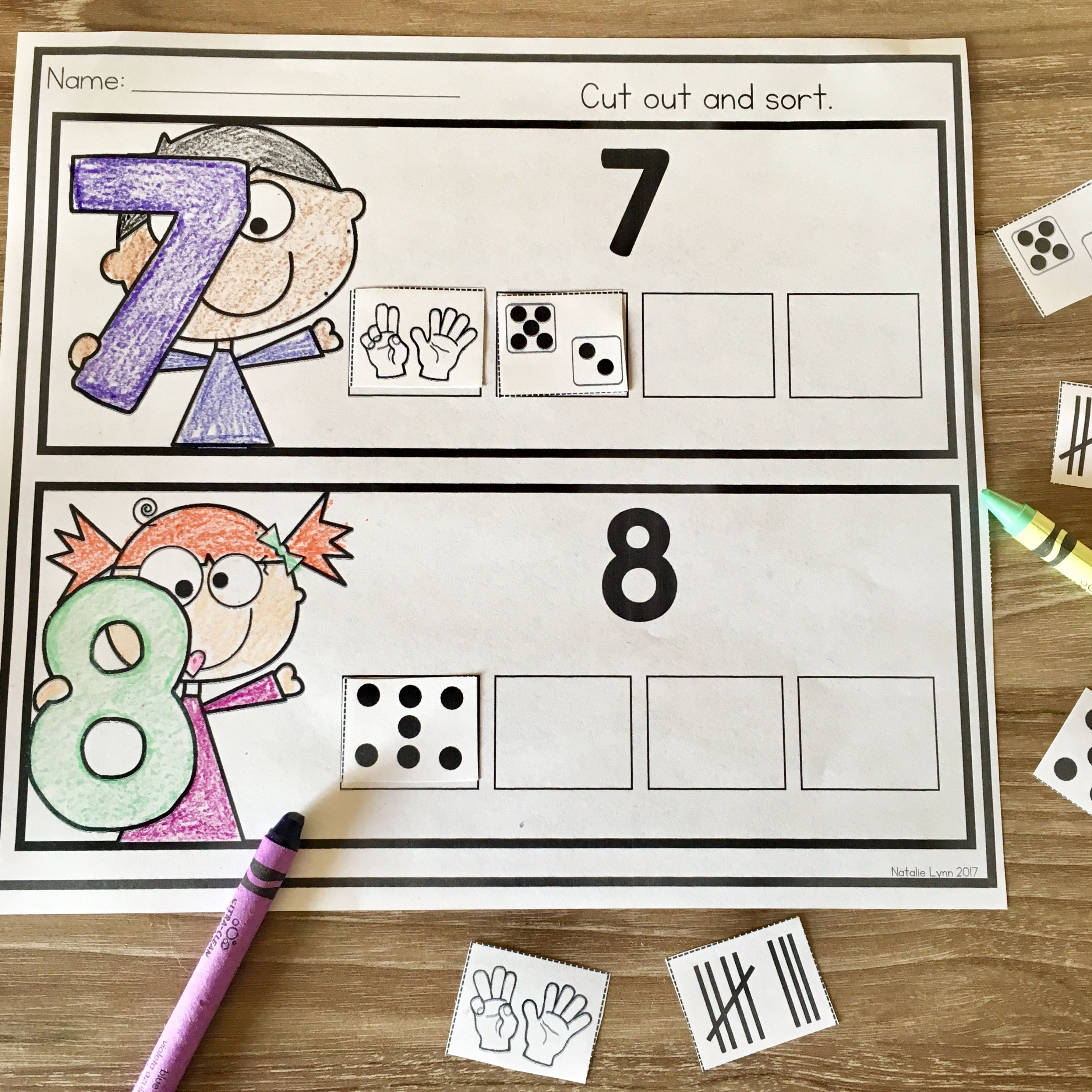Free Number Sense Worksheets Subitizing Worksheets