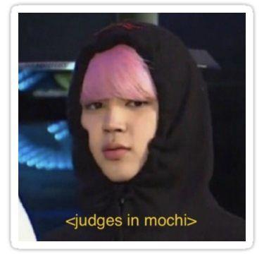 Jimin Judges In Mochi Meme Sticker Bts Meme Faces Meme Faces Bts Memes