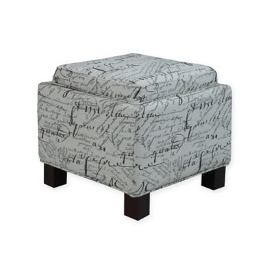 Awe Inspiring Madison Park Shelley Storage Ottoman In Cream Products Ncnpc Chair Design For Home Ncnpcorg