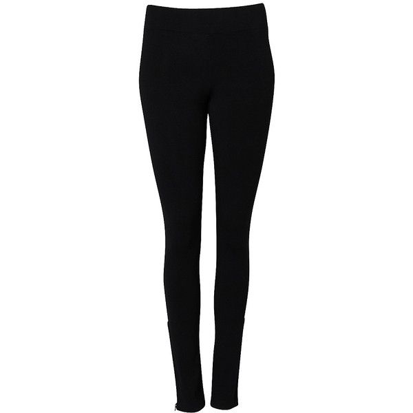 Gunmetal Zip Legging (58 HKD) ❤ liked on Polyvore featuring pants, leggings, jeans, bottoms, black, zip pants, zip leggings, long trousers, zipper trousers and zipper leggings