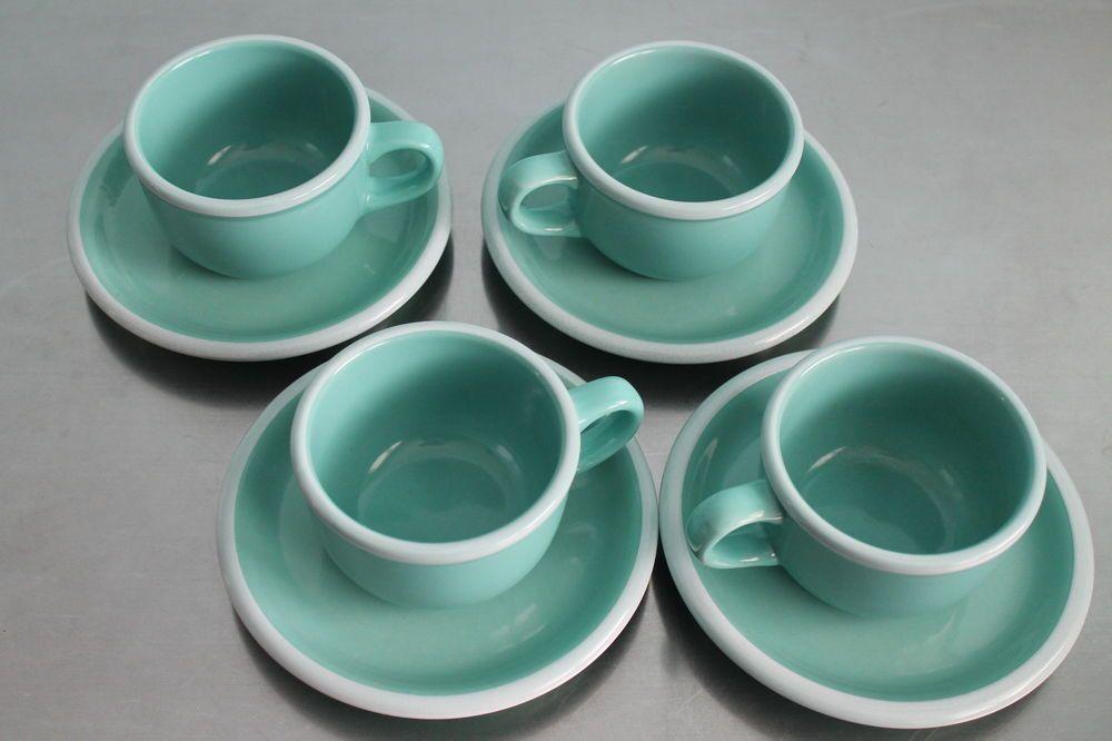 8 Vintage Mikasa Studio Nova Jade Green Chiffon Cup Saucer Plates