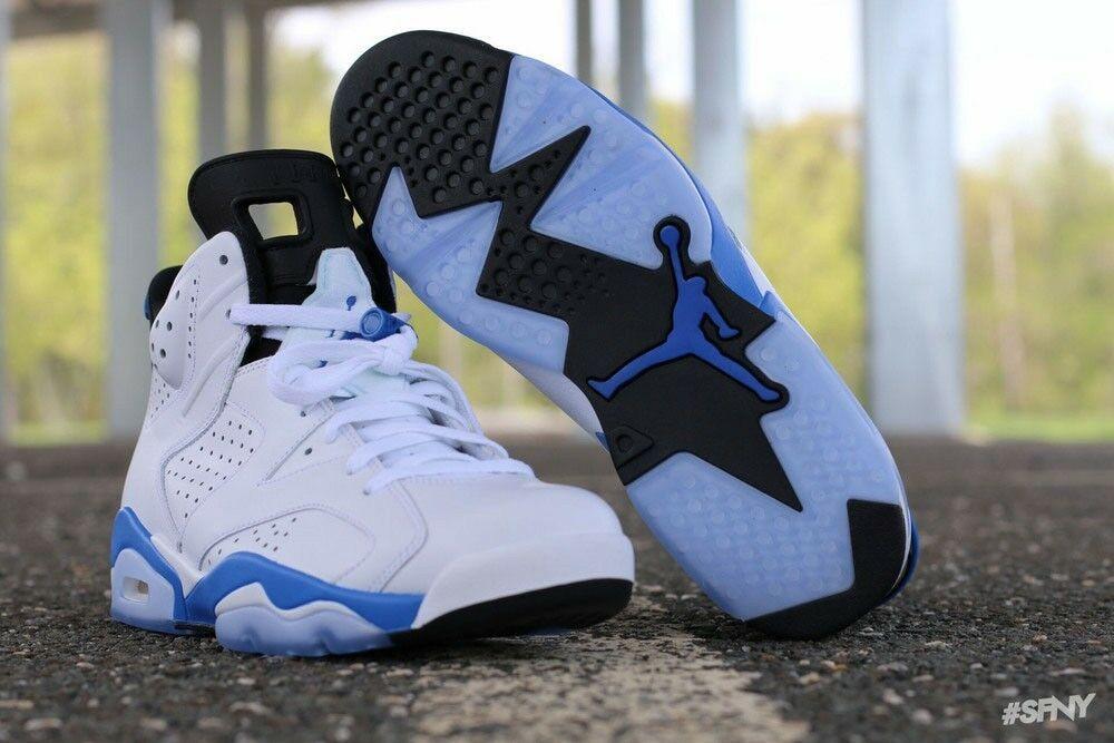 Details about Air Jordan 6 VI Retro Sport Blue Mens 384664