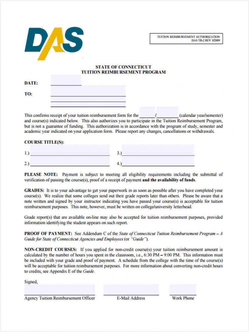 Editable Free 9 Tuition Reimbursement Forms In Pdf Tuition Reimbursement Agreement Template S Tuition Reimbursement Tuition Separation Agreement Template