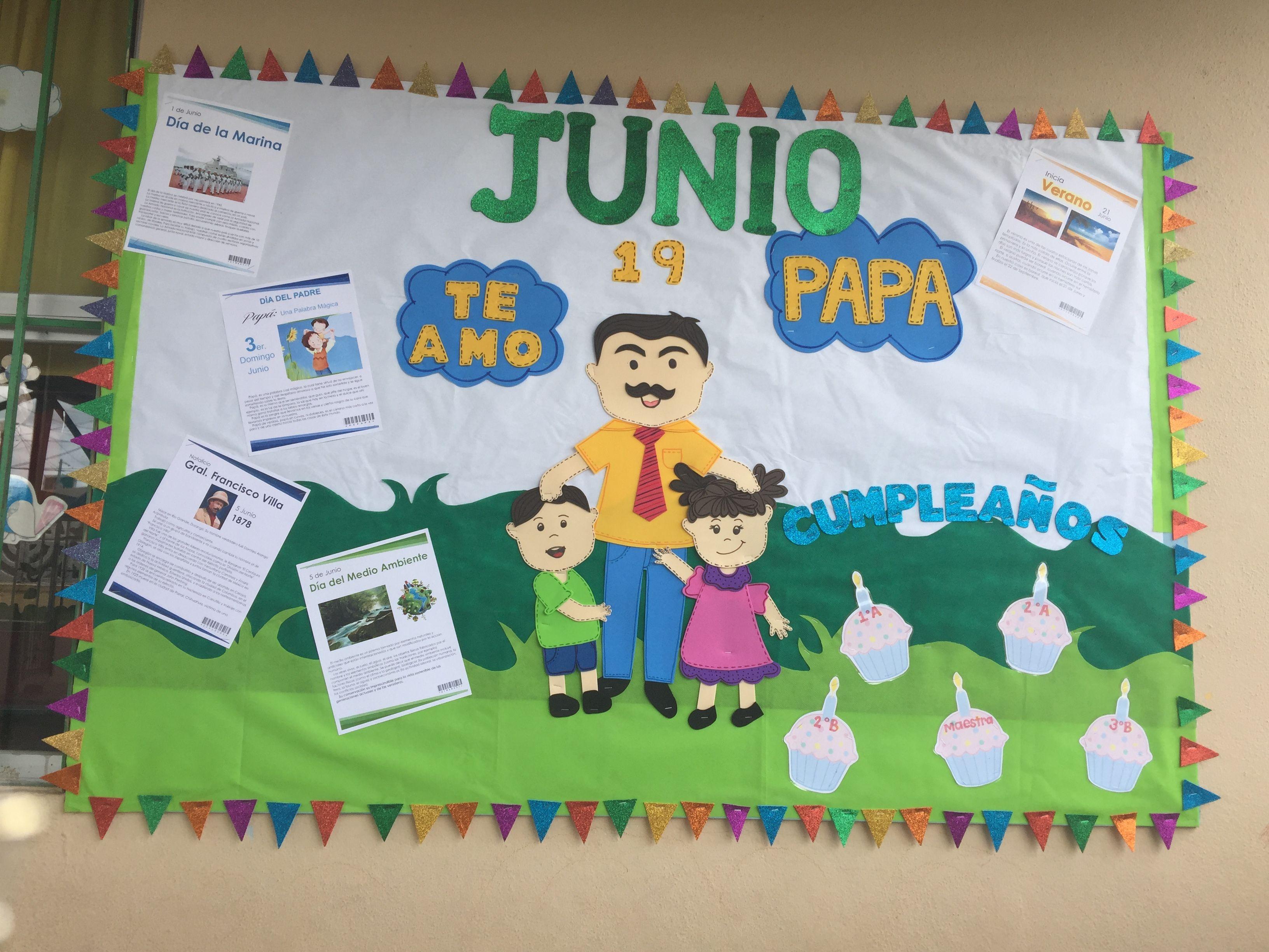 Peri dico mural junio preescolar school pinterest school for Contenido del periodico mural
