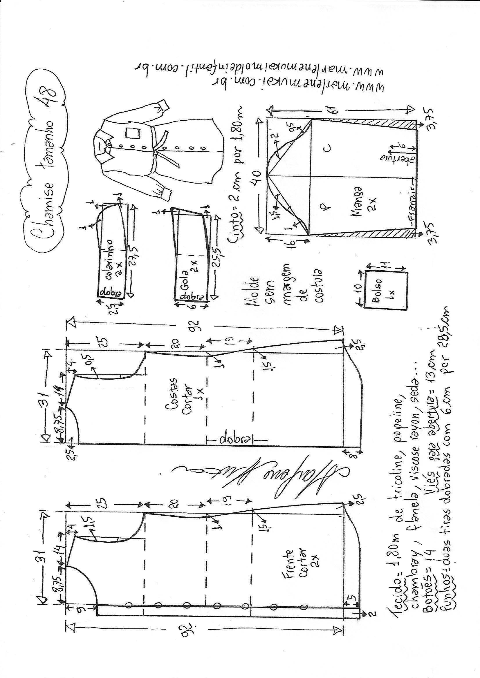 Pin de Ana Maria Valera en patrones de costura | Pinterest ...