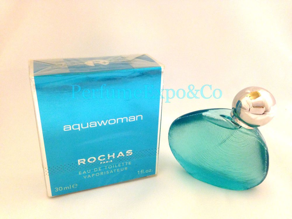 Rochas Eau De Edt Aquawoman Women Rare Perfume Spray Toilette 1 0oz kNPX8wOn0