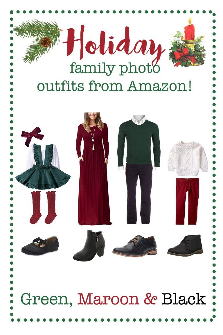Holiday/Winter Family Photo Outfits from Amazon! | Affordable Photography Props