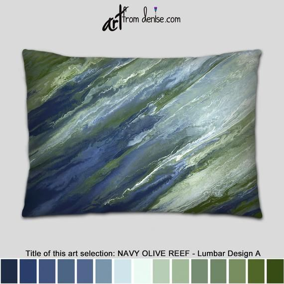 Wondrous Large Lumbar Support Pillow Olive And Navy Throw Pillows Ibusinesslaw Wood Chair Design Ideas Ibusinesslaworg