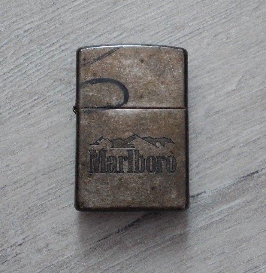 Zippo Marlboro Windproof Antique Silver Lighter Natural Patina Ebay Link Zippo Silver Lights Antiques