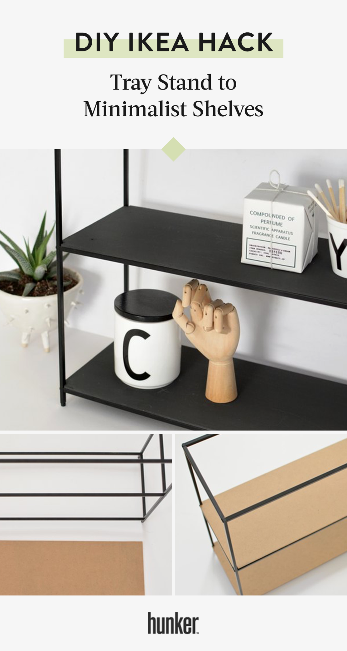 We Really Feel Like You Need To Try This Ikea Hack From Tray Stand To Modern Shelves Hunker Metal Kitchen Shelves Minimalist Shelves Kitchen Storage Shelves [ 2115 x 1128 Pixel ]