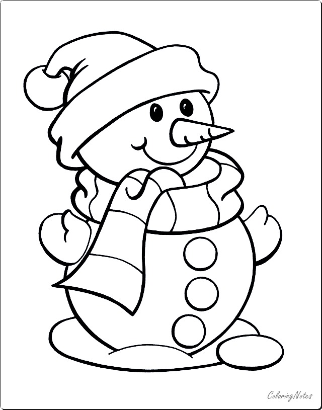 Cute Snowman Christmas Coloring Pages Snowman Coloring Pages Christmas Coloring Books Christmas Coloring Pages