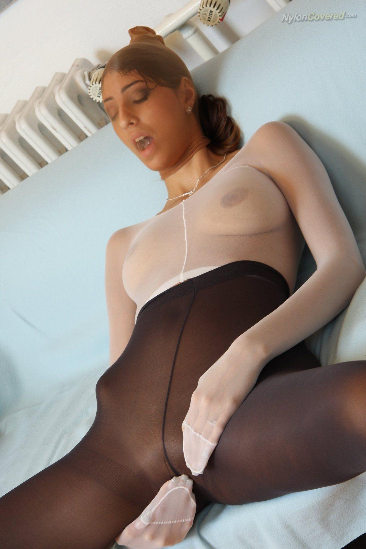 Pantyhose encasement pics