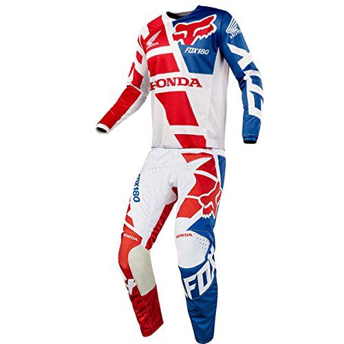 390851d3f Fox Racing 180 Honda White Jersey Pant Combo Size XLARGE 36W    Amazon most  trusted