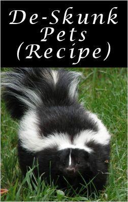 De-skunk Pets: 1 Quart Of Fresh 3% Hydrogen Peroxide + 1/4
