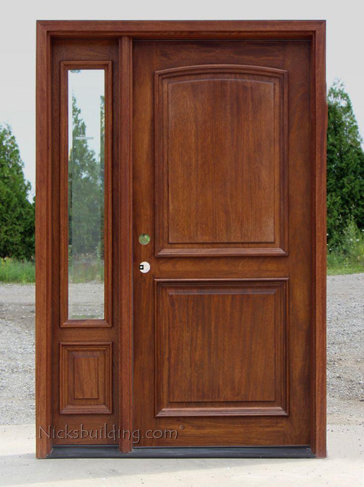 Exterior 2 Panel Door With 1 Sidelite Entrance Wood Door Mahogany Exterior Doors Door Design