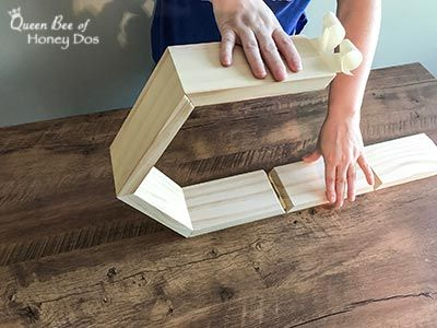 How To Build and Hang Honeycomb Shelves is part of Honeycomb shelves - How To Build and Hang Honeycomb Shelves! Get these instructions and tips for constructing your own honeycomb or hexagon shelves from Queen Bee of Honey Dos!