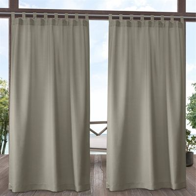 Exclusive Home Outdoor Curtains Shade Eh8278 0 Cabana Indoor Outdoor 54 In X 84 In Tab Top Curtain Outdoor Curtains Outdoor Curtain Panels Curtains