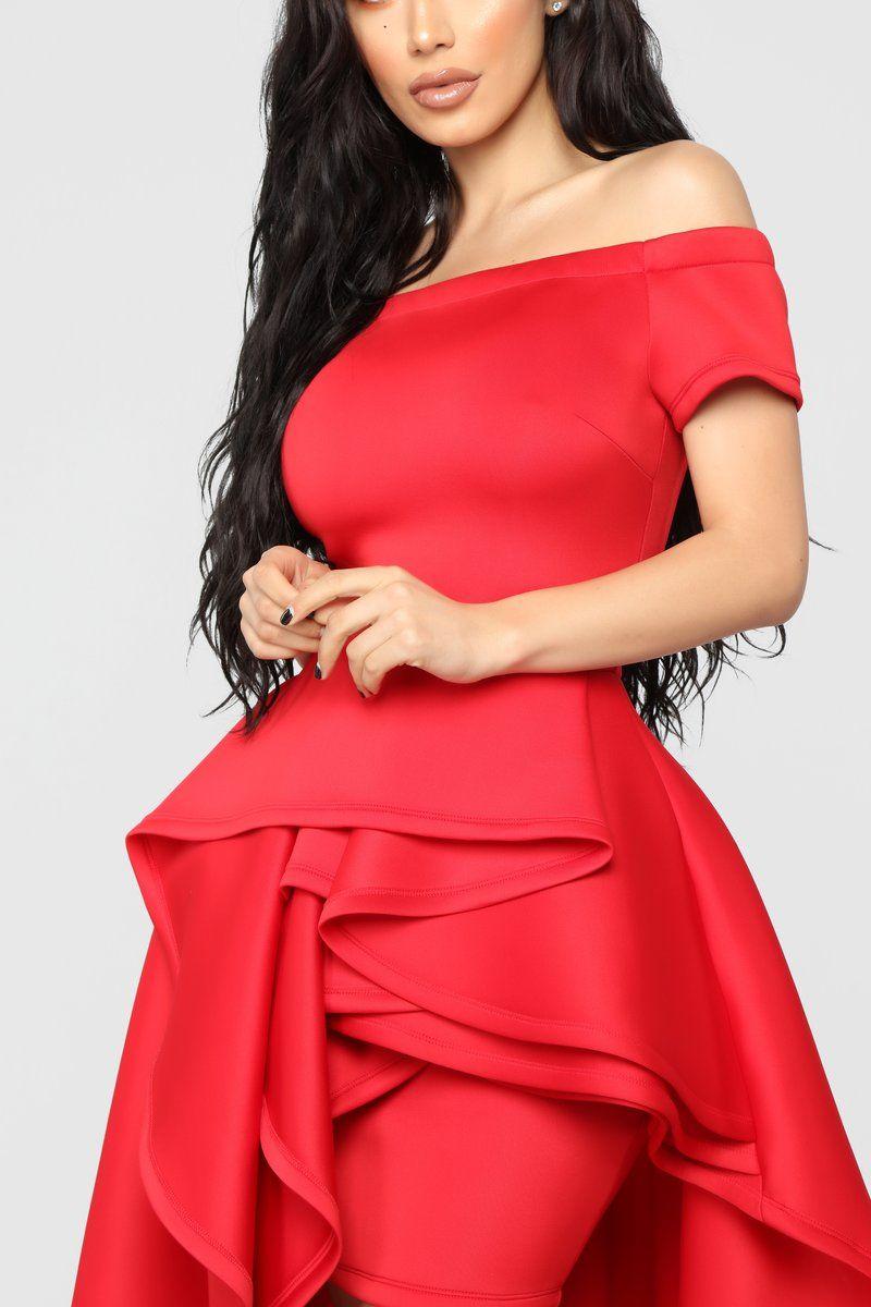 64fee1507 Redeeming Love High Low Dress - Red | FashionNova | Dresses, Fashion ...