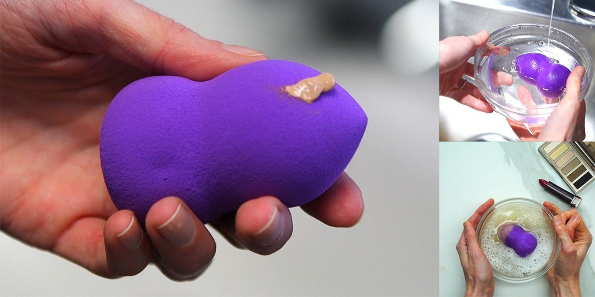 This Hack for Cleaning Makeup Sponges Will Change Your