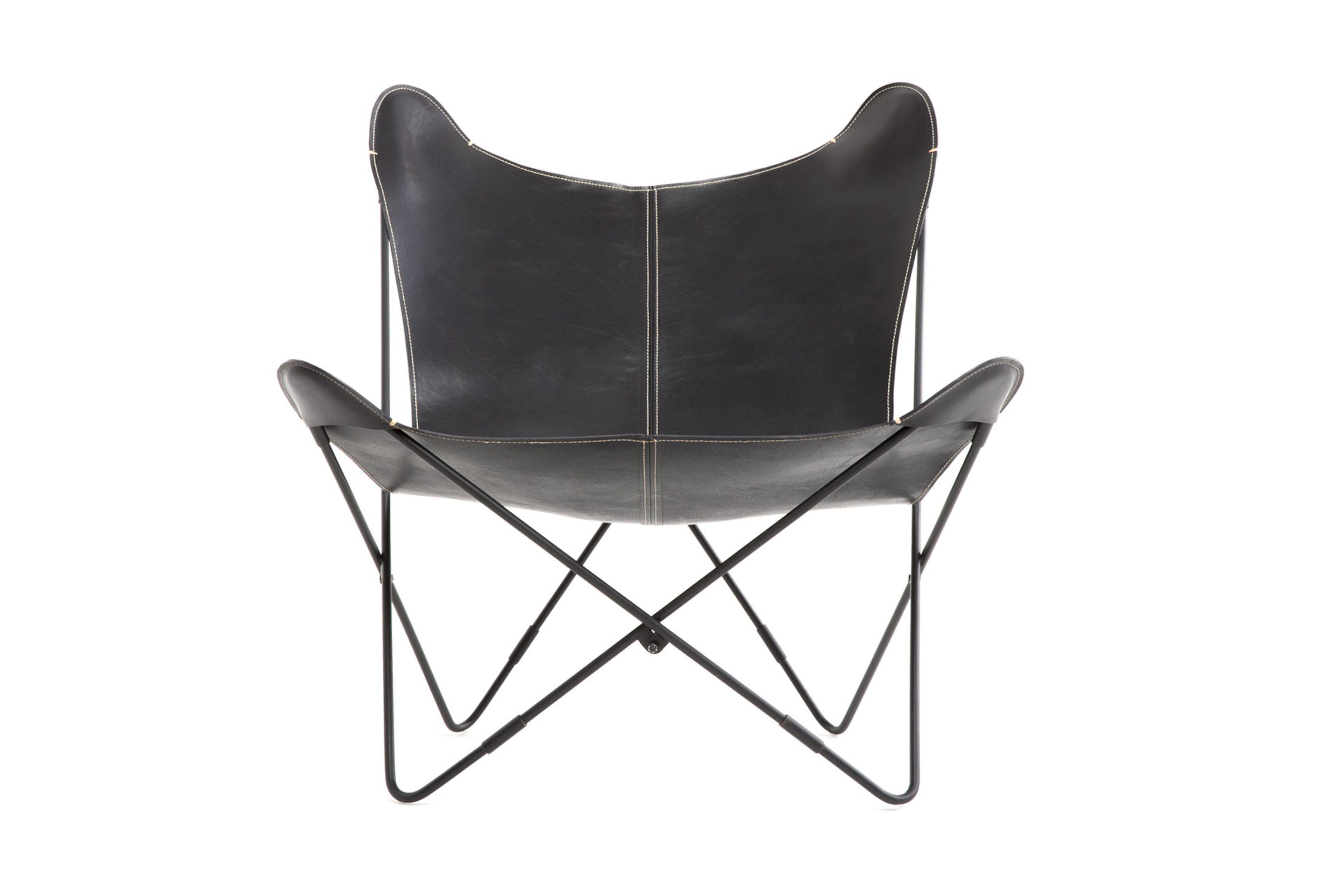 memory foam butterfly chair home depot adirondack plans leder black stuhl