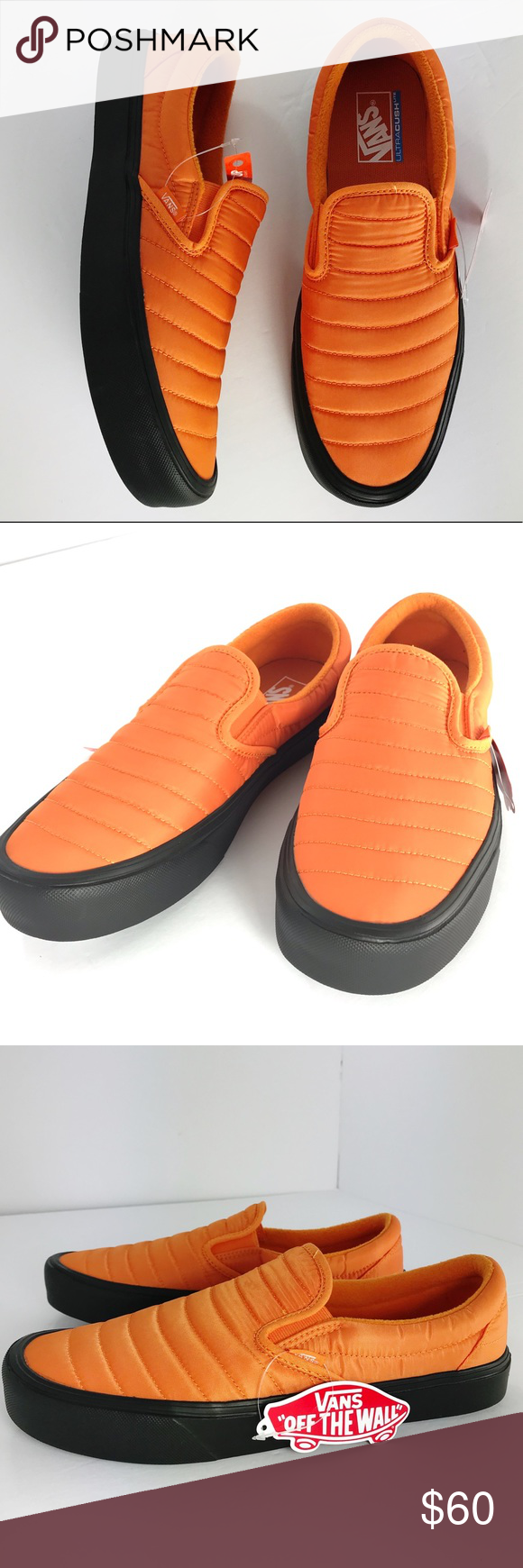 7a94774b3fc Vans Quilted Lite Slip On Vans Quilted Slip On Lite in Orange. Ultra Cush  insole. Super Lightweight. Men s size 12. New without box. Vans Shoes  Sneakers