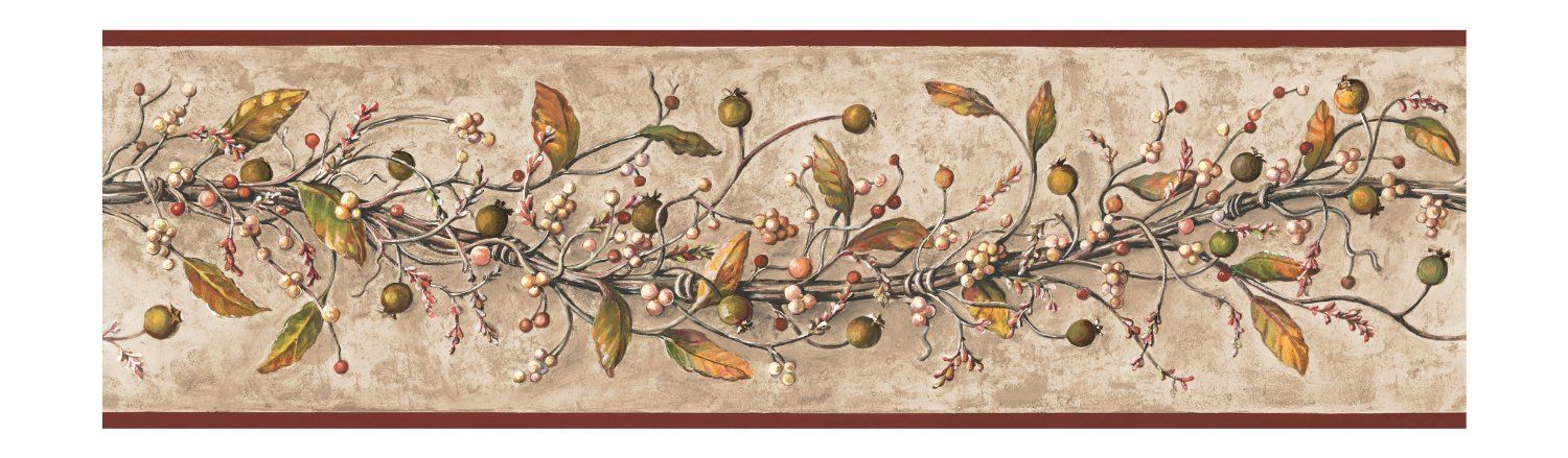 Amazon.com: York Wallcoverings Best Of Country HK4669BD Caroline Vine Border, Khaki: Home Improvement