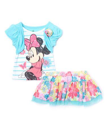 bdda83f63056 Look what I found on  zulily! Blue Minnie Mouse Top   Skirt - Toddler    Girls  zulilyfinds