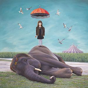 Circus Painting - Ealeanor Dreams Of A Miraculous Rescue by Paul Bond