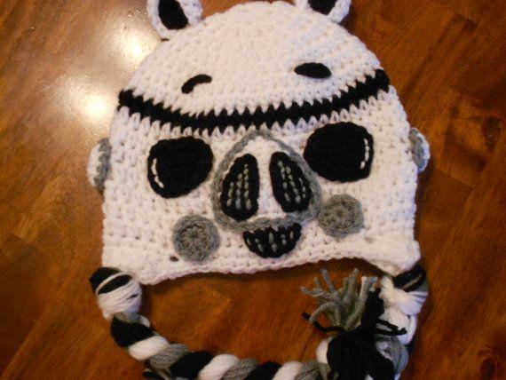 Amigurumi Angry Birds Star Wars : Crochet Angry Birds Star Wars Trooper Inspired by ...