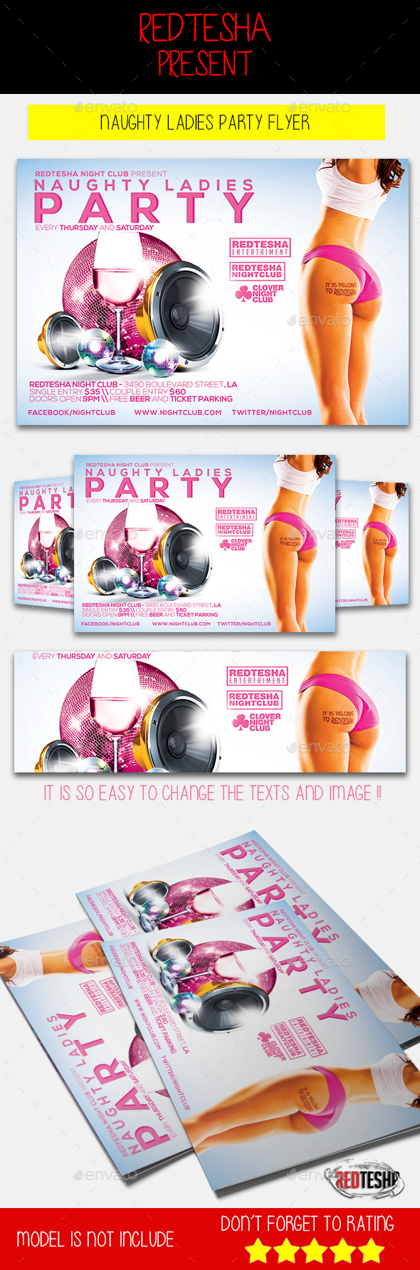 Naughty Ladies Party | Ladies party, Party flyer and Flyer template