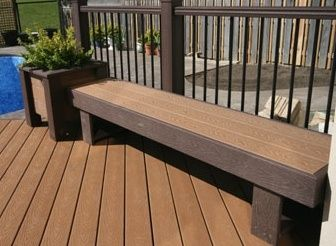composirte decking bench seats Google Search outside