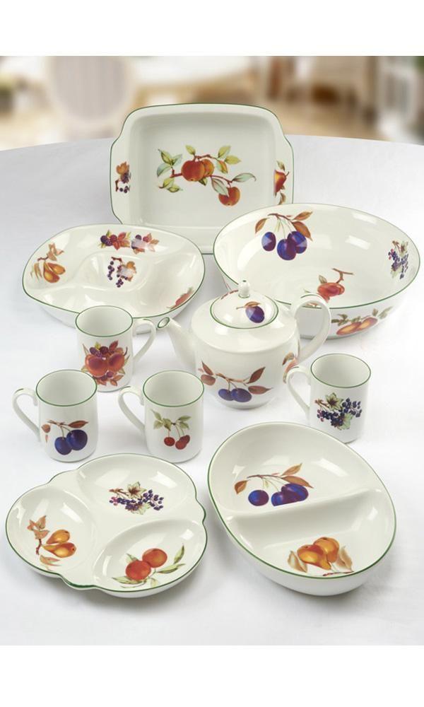Royal Worcester Evesham Vale Tableware  sc 1 st  Pinterest & Royal Worcester Evesham Vale Tableware   Mooie tafelserviezen ...