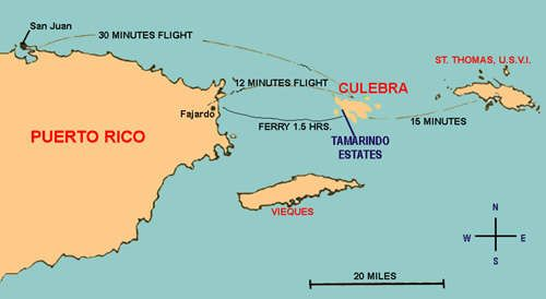 map of puerto rico and culebra | TRANSPORTATION TO CULEBRA ISLAND ...