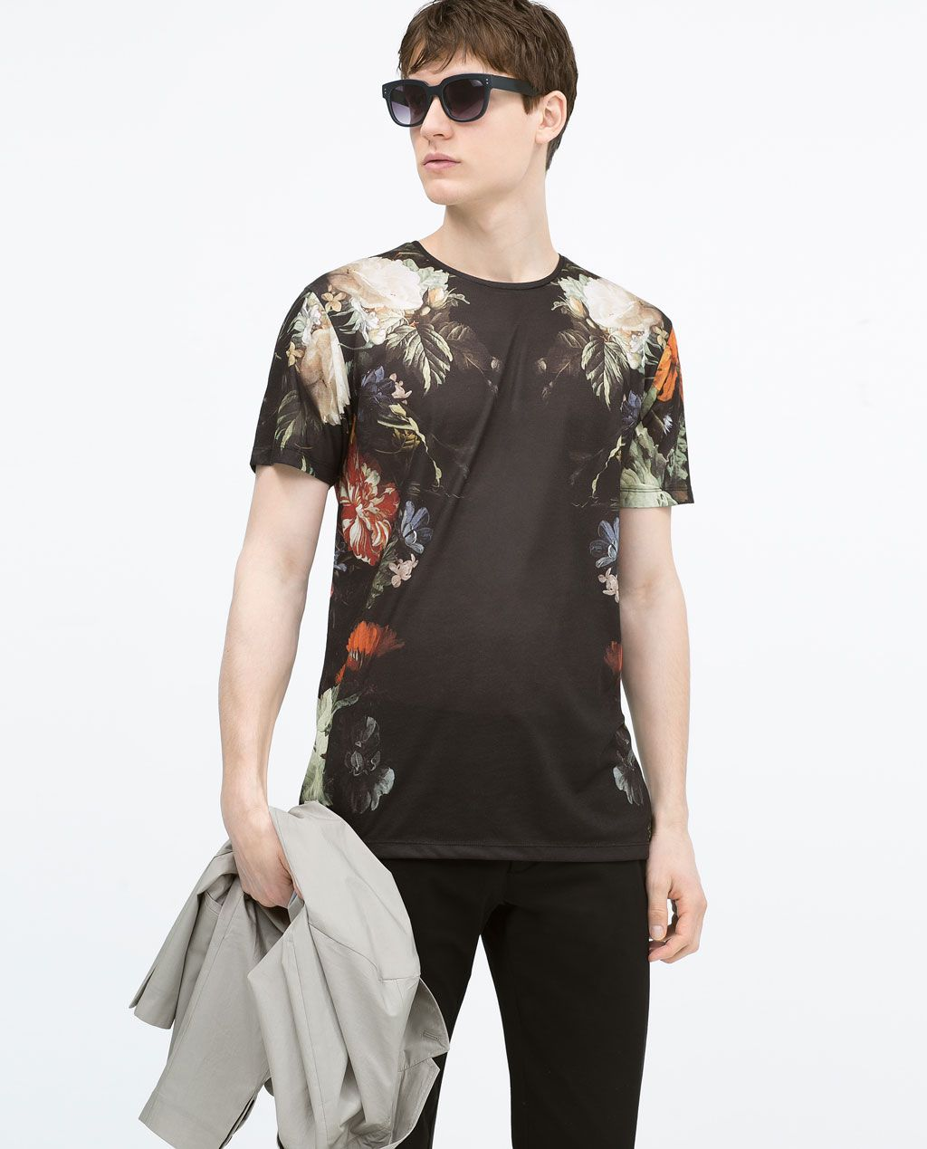 Zara black t shirt india - Short Sleeve T Shirt Pattern T Shirts Man Zara United