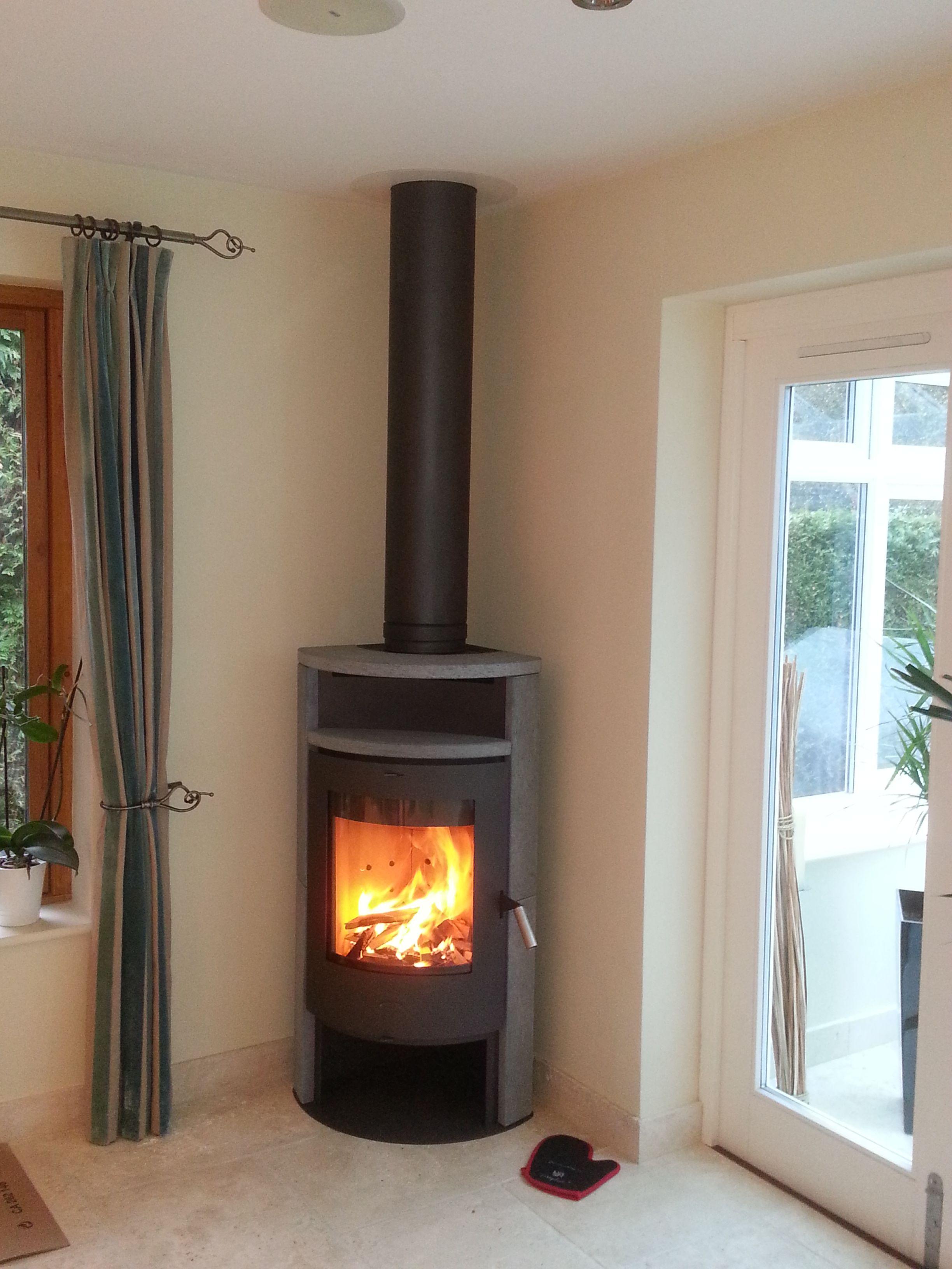 Fireplace Samba Soapstone Corner Ing Woodburner In 2019