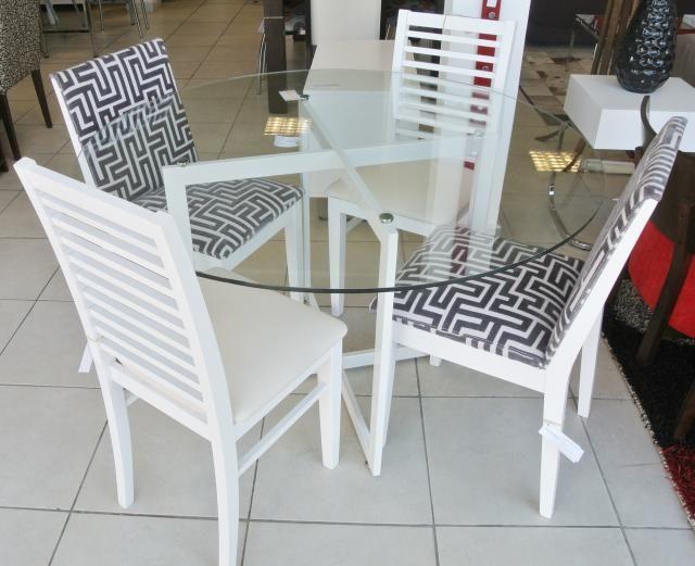 Base de mesa equis ca o laqueado blanco medida 87 x 87m for Comedores de vidrio
