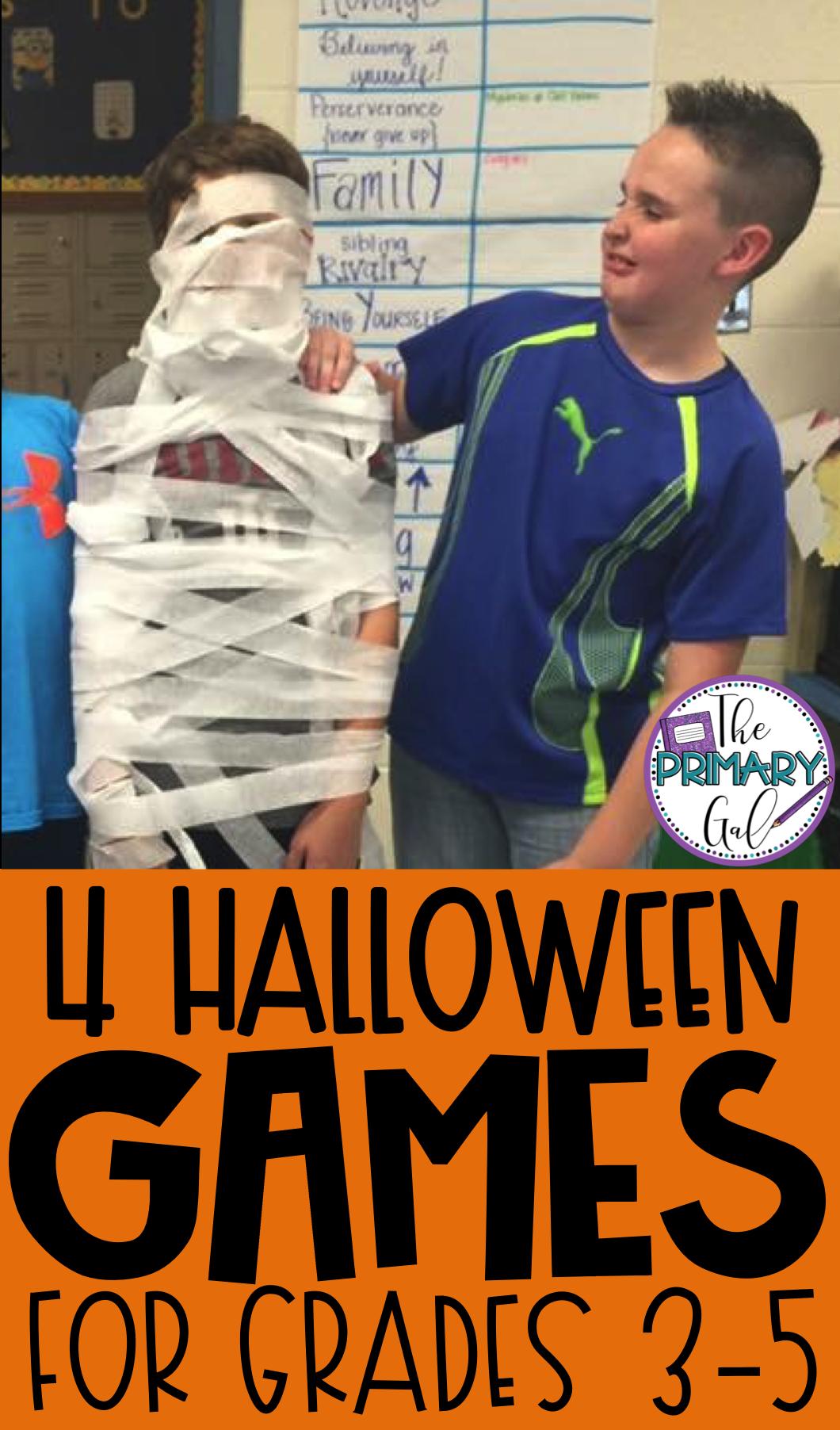 The Primary Gal #halloweenpartygamesforkids
