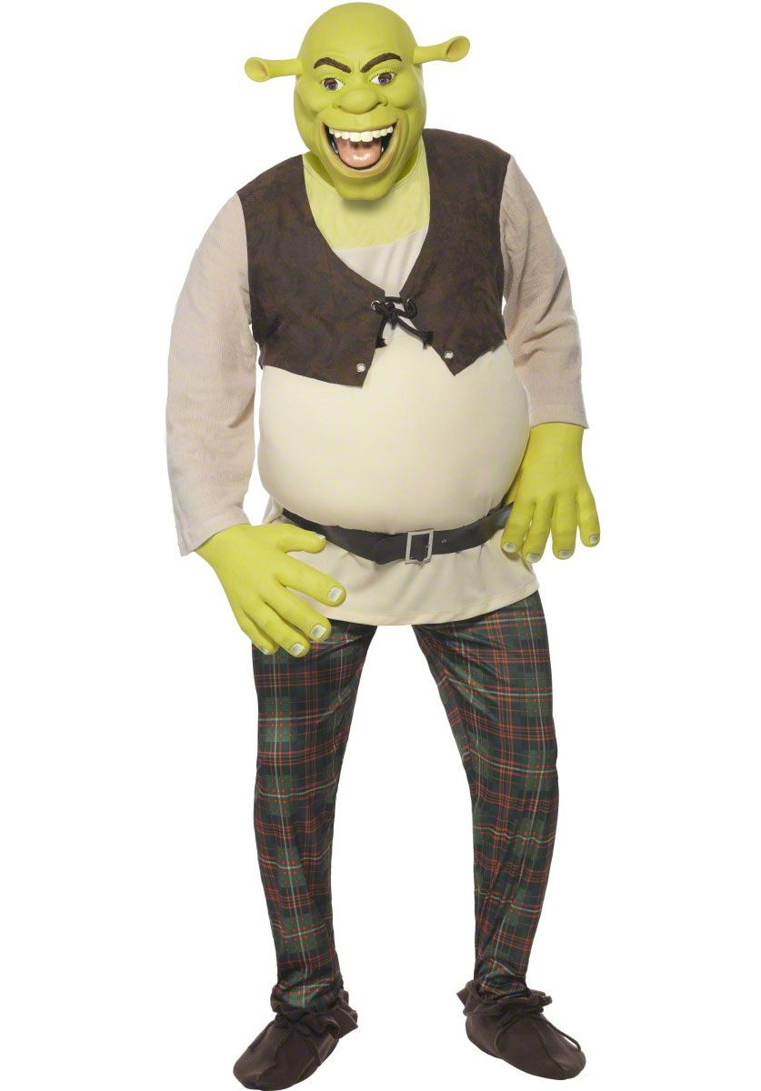 Shrek Costume Adult Halloween Fancy Dress