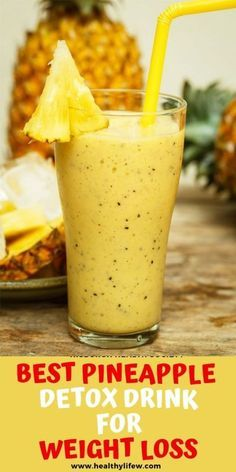 BEST PINEAPPLE DETOX DRINK FOR WEIGHT LOSS images