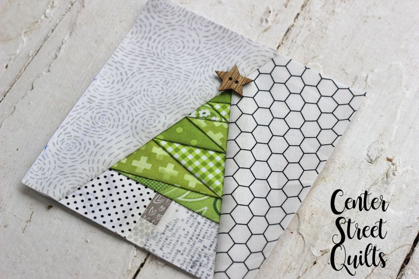 Free Geometric Christmas Tree Fpp Pattern Foundation Paper Piecing Patterns Foundation Paper Piecing Tree Quilt Block