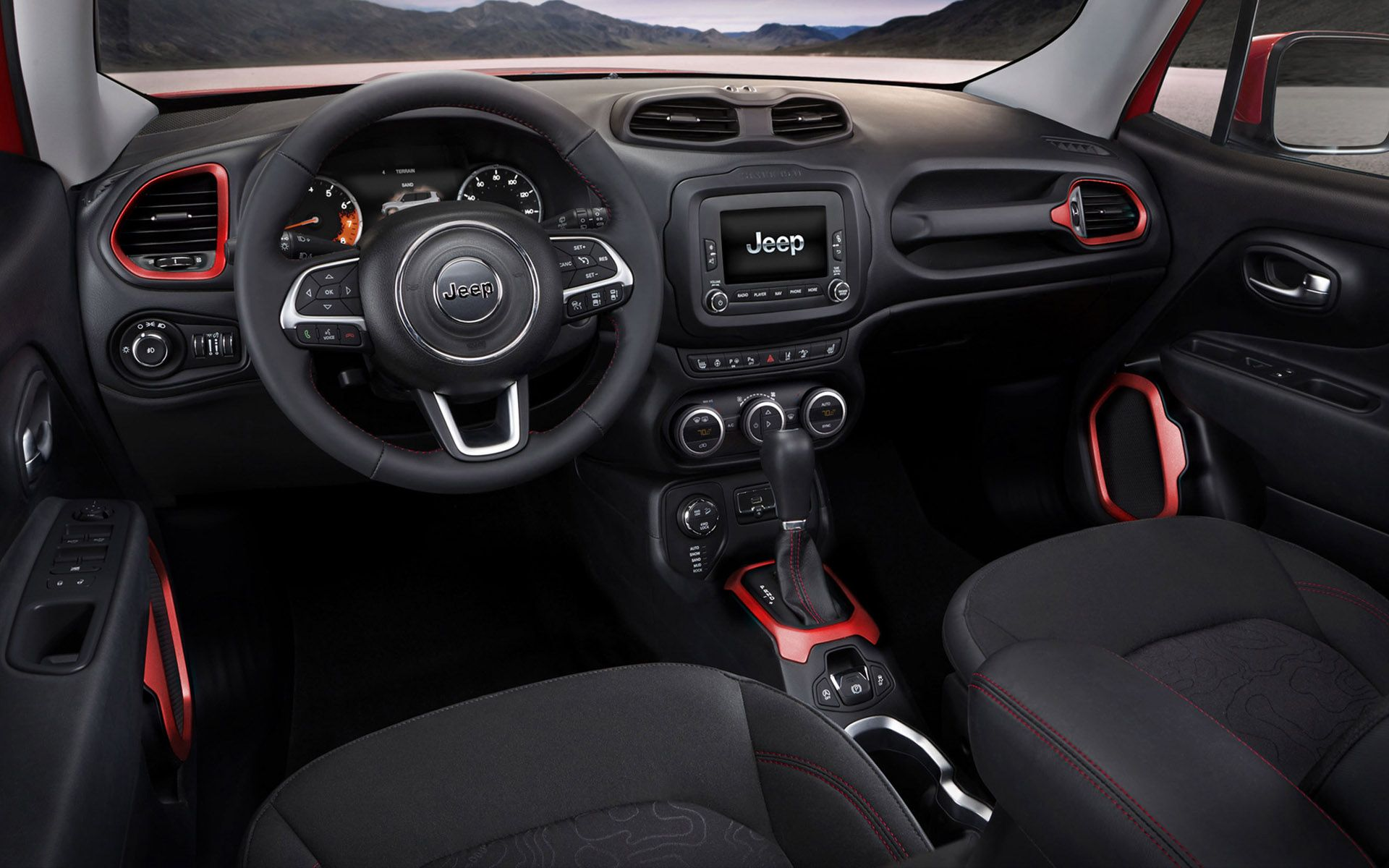 2015 Jeep Renegade Interior Dashboard Image Wallpaper Jeep Renegade Auto Bild Autos